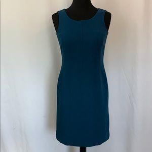 🎈 Petite Sophisticate Teal Sheath Dress Size 0